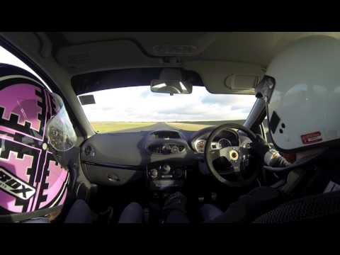 Trackspec Clio 197 at Bedford Autodrome Track Day SEN Circuit 140117 Taking on some Caterhams Part 1