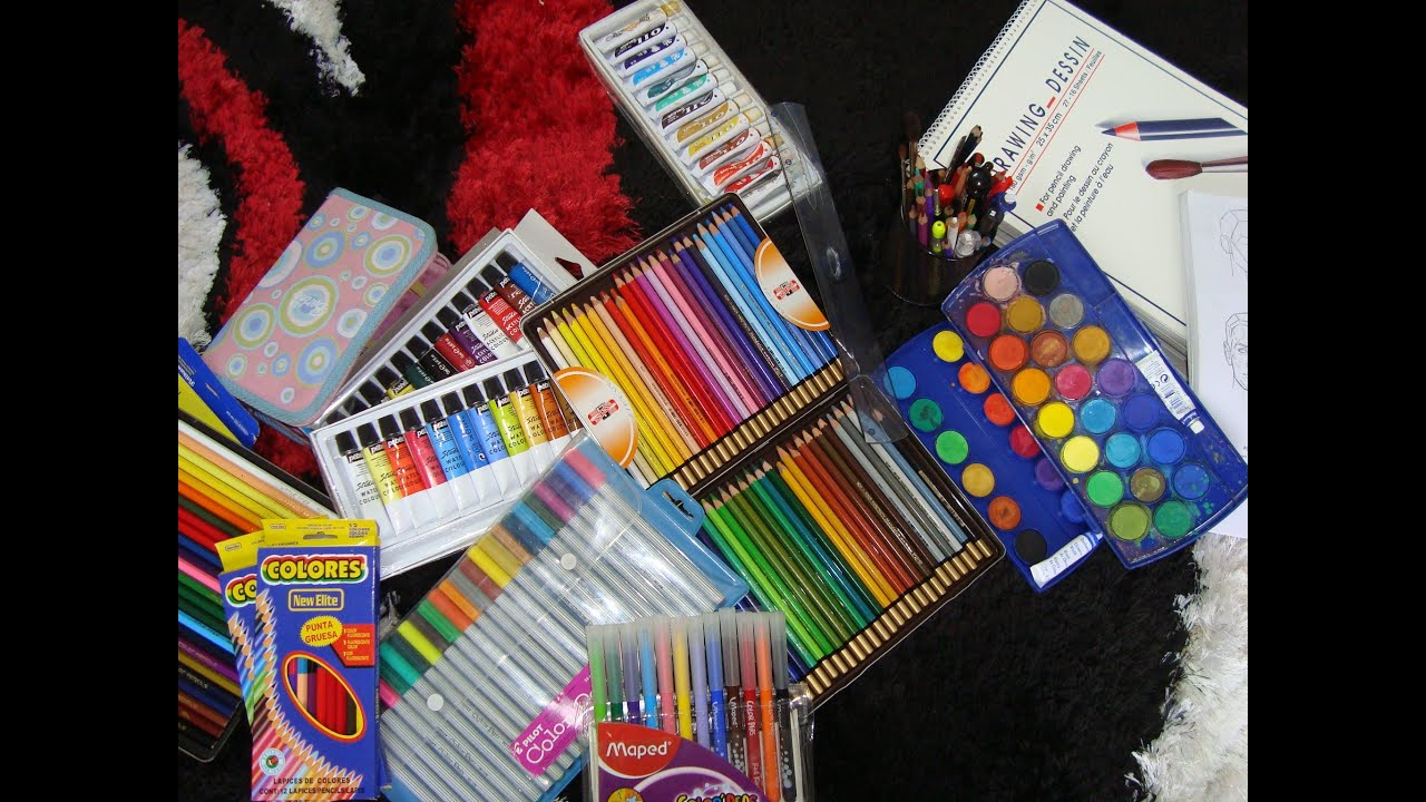 gallery for art supplies wallpaper