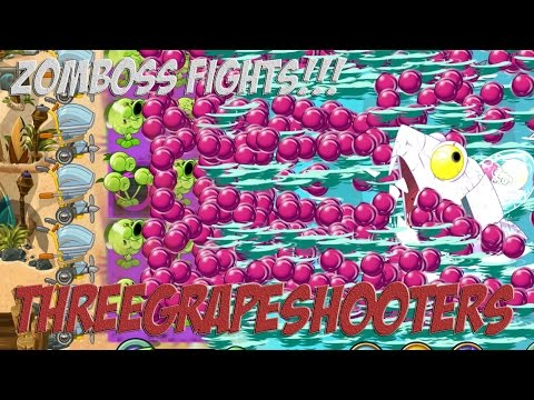 Plants vs Zombies 2 Epic Hack : The Threegrapeshooters vs Each Freakin