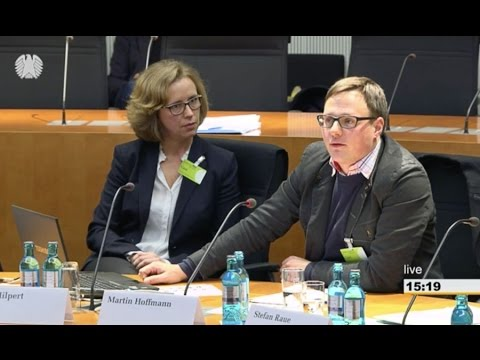 Martin Hoffmann (ECPMF) at the Media and Culture Committee of the German Parliament