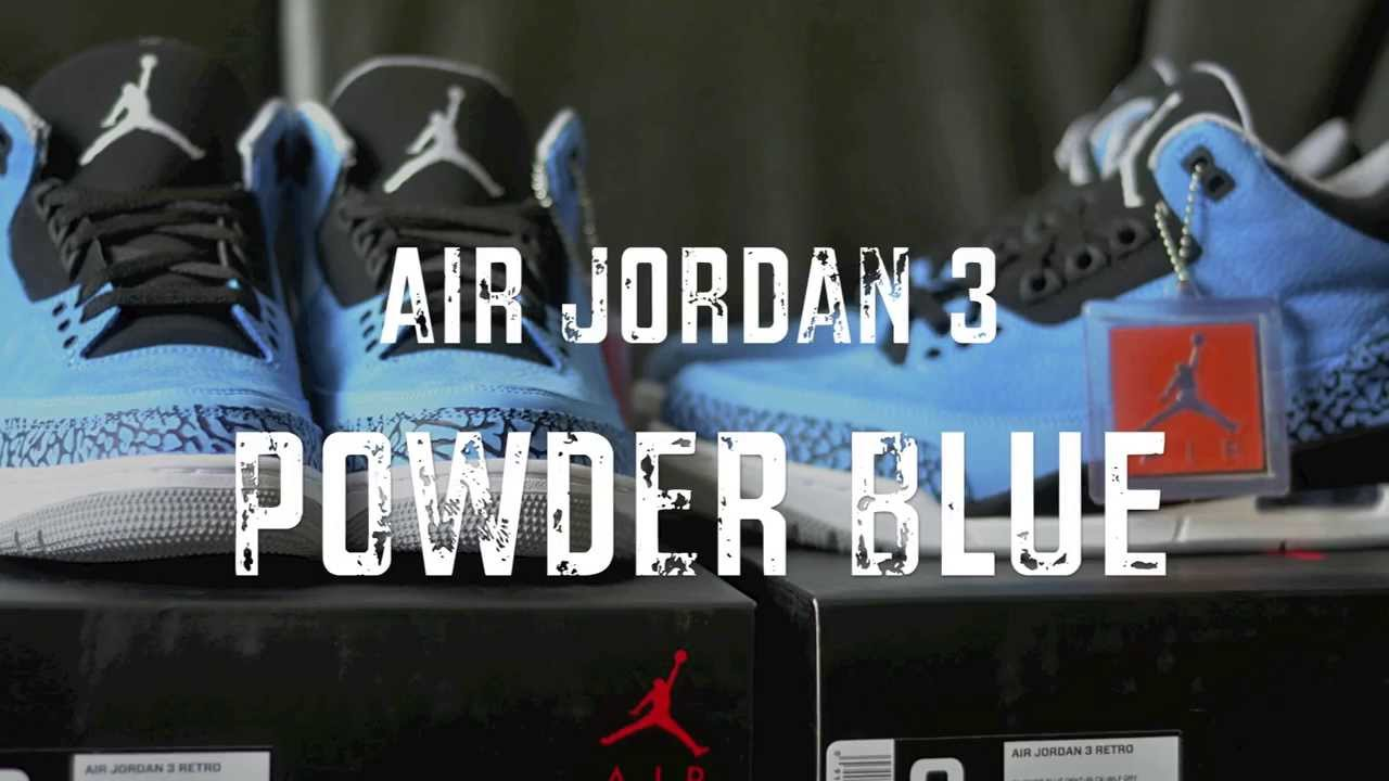 2014 Air Jordan Retro 3 Powder Blue Review + Camp Out + On Feet ... 1cede9346