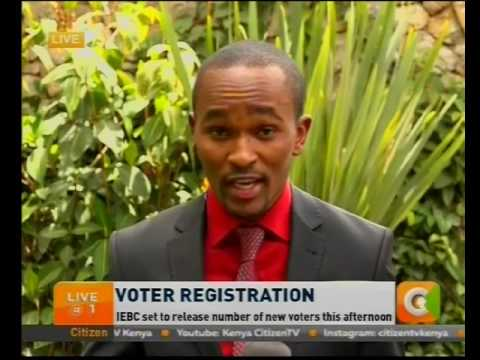 IEBC set to release number of new voters this afternoon