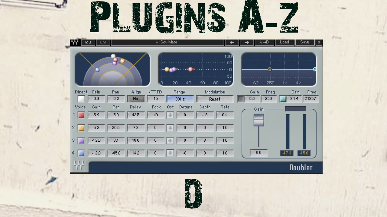 Waves Doubler Plugin - Plugins A - Z 'D' is Doubler by Waves