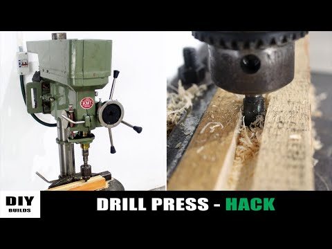 Make Router From Drill Press | Home Made Router | Drill Press Hack | Diamleon Diy Builds