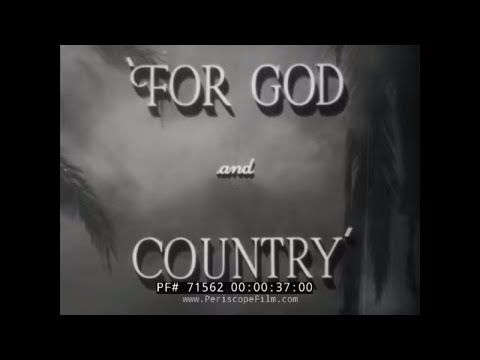 FOR GOD AND COUNTRY U.S. ARMY CHAPLIN CORPS WWII Film w/ RONALD REAGAN 71562