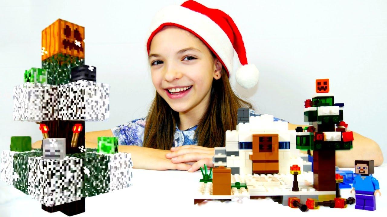 Лего #Майнкрафт: наряжаем елку. Майнкрафт видео про Новый Год со Светой и Стивом