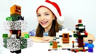 Секреты игры Майнкрафт   Наряжаем новогоднюю елку Лего Майнкрафт