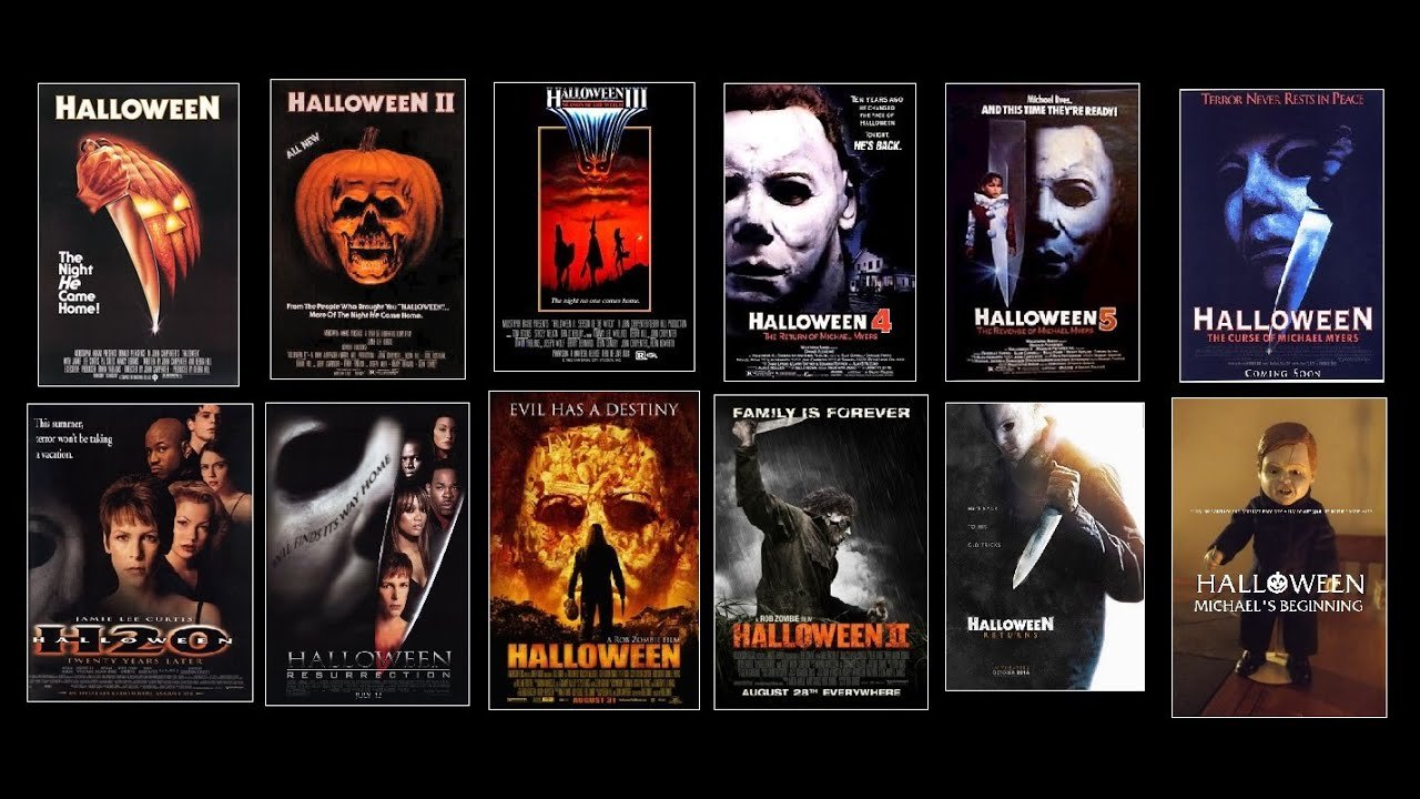 horror movie logos: halloween edition - youtube