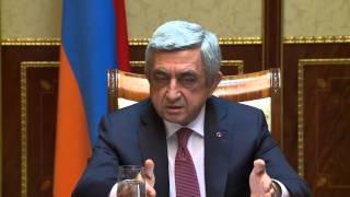 Սերժ Սարգսյան. Ներկայիս զարգացումները ստիպում են ուժեղացնել անվտանգության միջոցառումները
