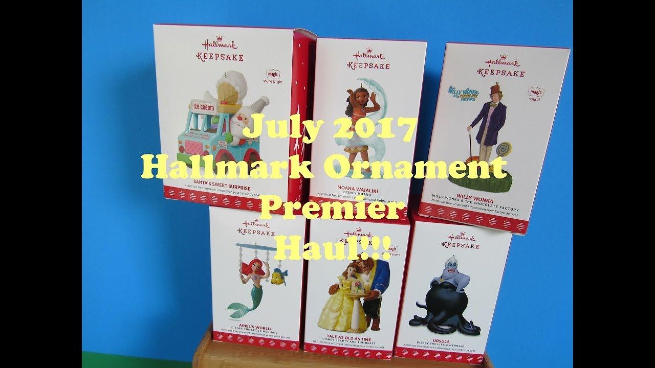 Hallmark Ornament Premier July 2017 Disney Beauty And The Beast