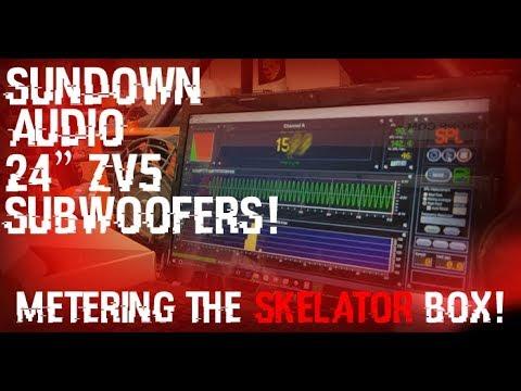 "SUNDOWN AUDIO 2 24"" Zv5 Sub-woofers! - Metering the skelator box! - SPL Test!"