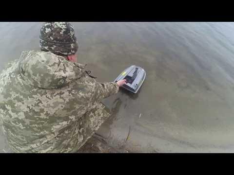"""Обзор кораблика """"Carpboat"""" на воде"""