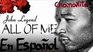All Of Me_John Legend-Karaoke instrumental en español-Letra por Kevin y Karla