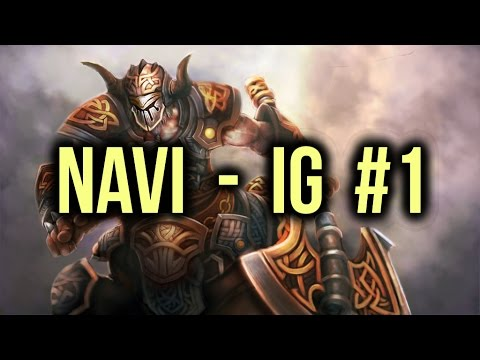 NaVi vs IG (Invictus Gaming) Dota 2 Highlights TI5/The International 5 Group Stage Game 1 poster