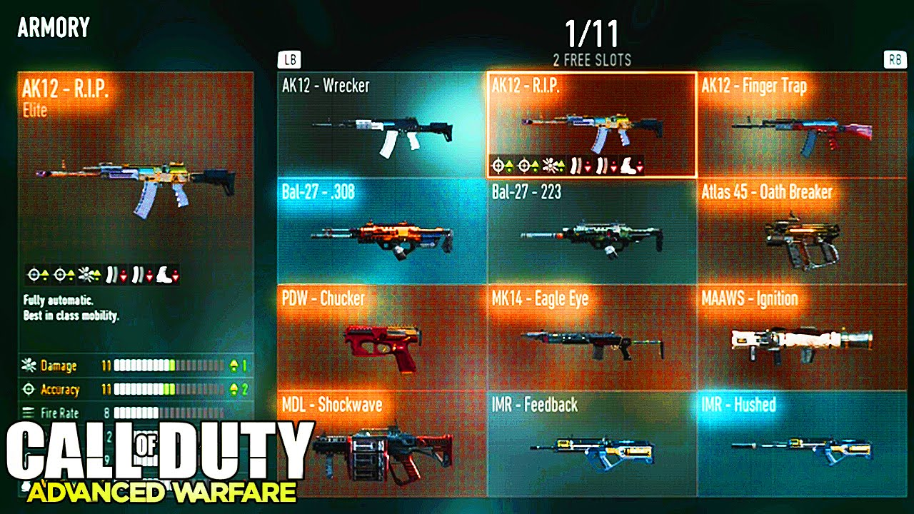 Armory 15 elite weapons 5 elite exos tons more quot advanced warfare