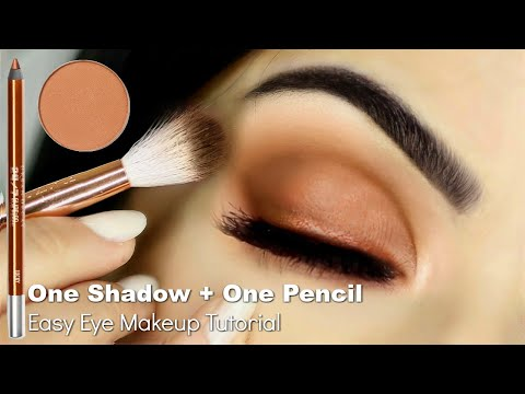 Beginners Eye Makeup Tutorial Using One Eyeshadow + Eyeliner Pencil | How To Apply Eyeshadow thumbnail