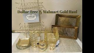 Dollar Tree, Walmart, & Target Gold Home Decor Organization Haul