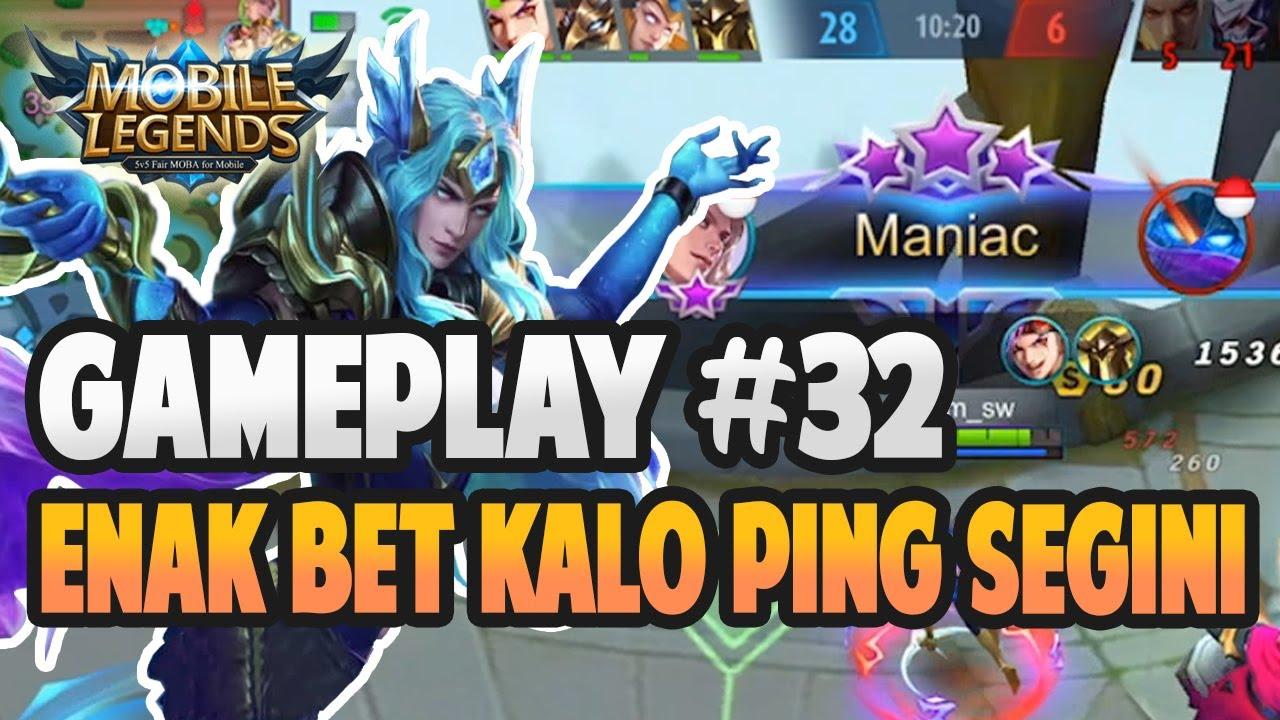 KETIKA DAPET PING BAGUS AUTO AGGRESSIVE   GAMEPLAY #32   MOBILE LEGENDS BANG BANG
