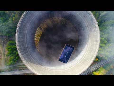 Dropping an iPhone XS Max Into Nuclear Power Plant Hole! - W