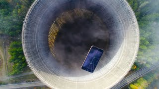 Dropping an iPhone XS Max Into Nuclear Power Plant Hole! - What