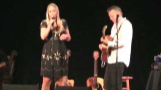Catherine Britt and Tommy Emmanuel performing