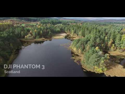 Loch Birse, Aboyne, scotland, DJI Phantom