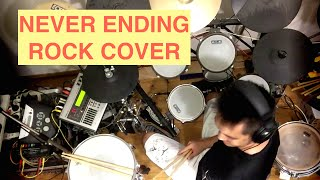 Never Ending - Rihanna - Cover - (Rock Growl Voice) - (and Drums too)