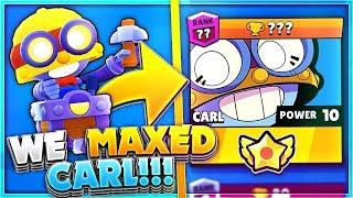 Gemming New Brawler Carl to MAX in Brawl Stars!