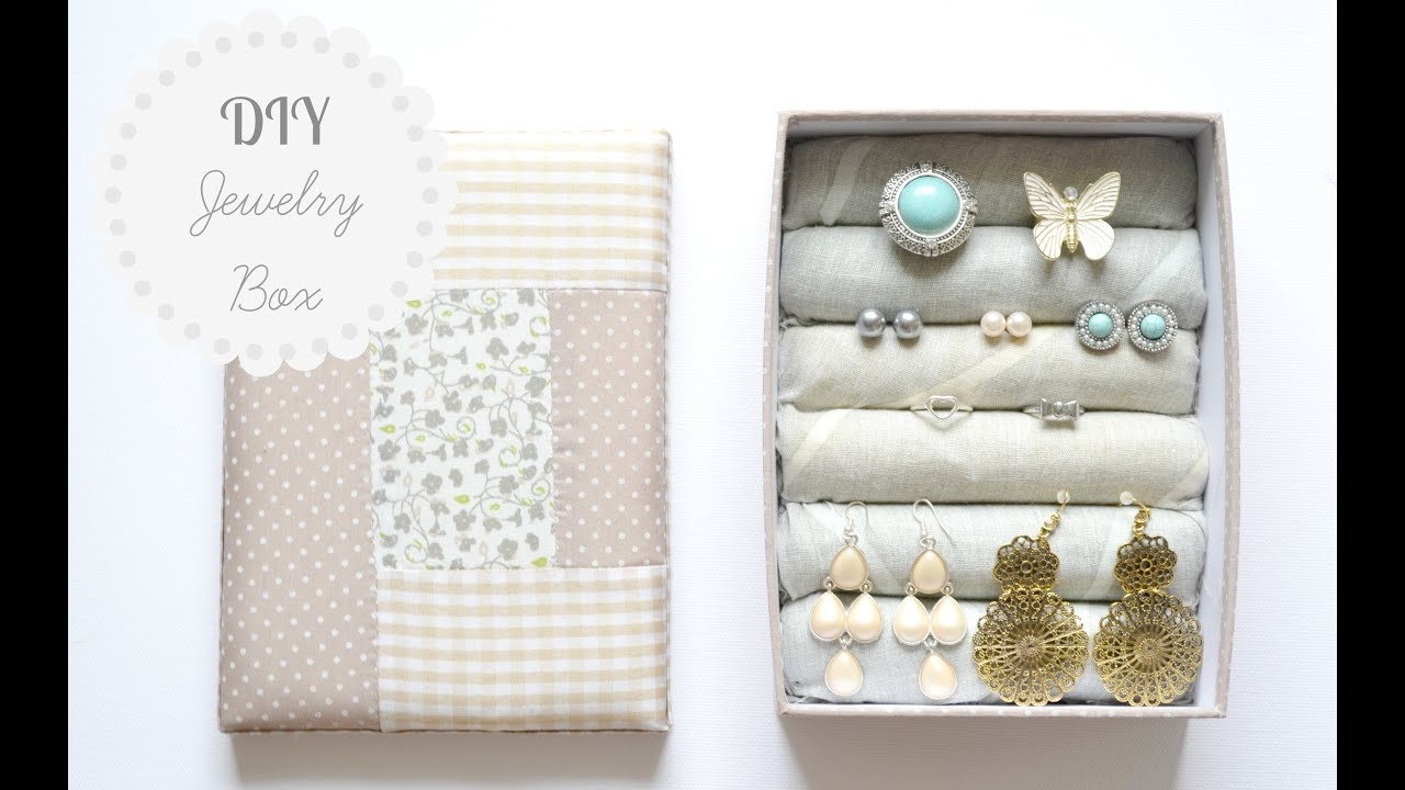 DIY Jewelry Box Storage Organization YouTube