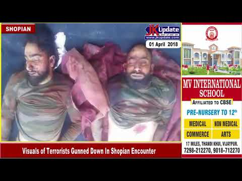 Visuals of Terrorists Gunned Down In Shopian Encounter