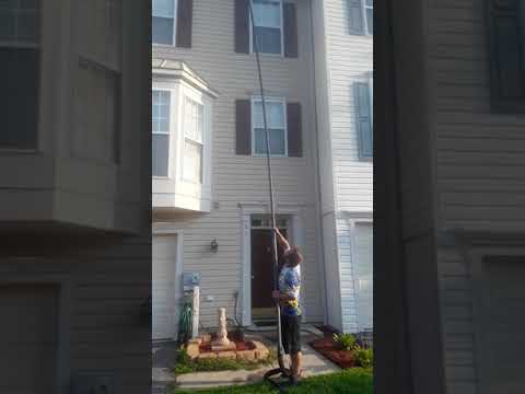 Gutter cleaning by Elite Power Washing located in Harford County Maryland