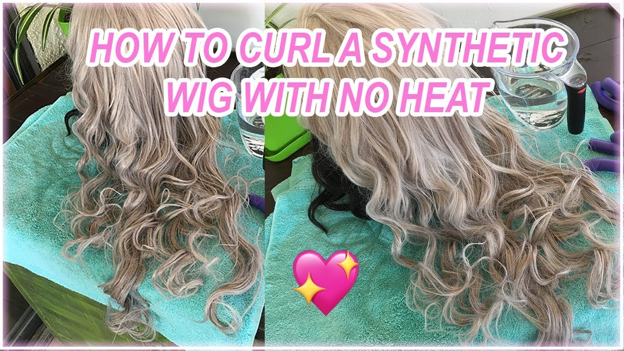 How To Curl A Synthetic Wig With No Heat Using Flexirods Youtube