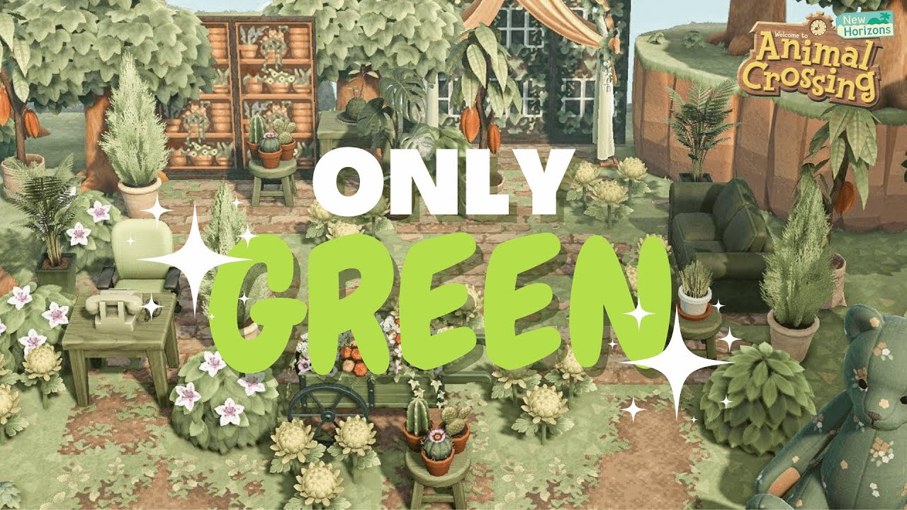 Download Making a build entirely green?! | ACNH