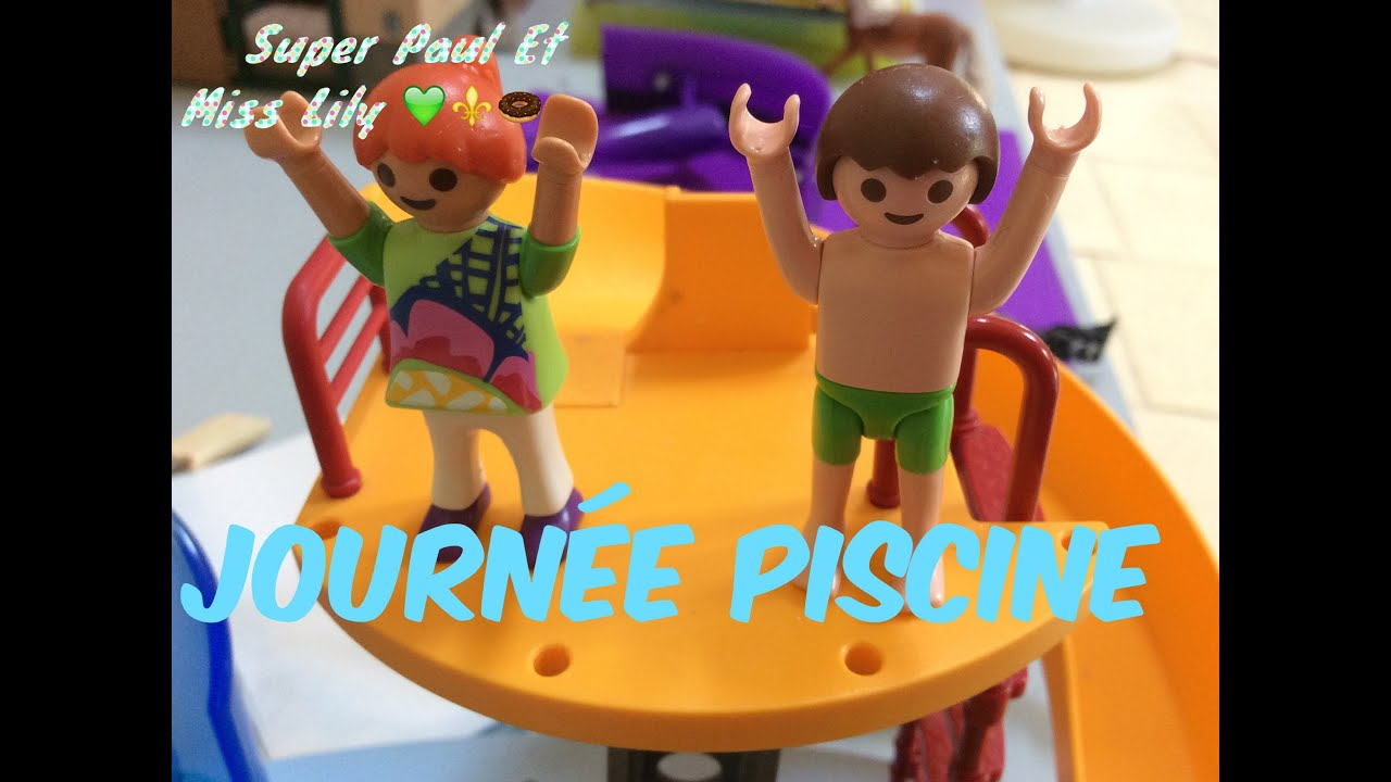 Playmobil journ e piscine youtube for Piscine playmobil