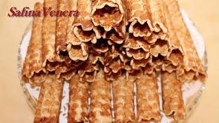 Вафельные  трубочки очень вкусные!(Вафельные трубочки очень вкусные! Вряд ли можно найти человека, который не любит сладкие хрустящие вафельн..., 2015-12-26T07:29:58.000Z)