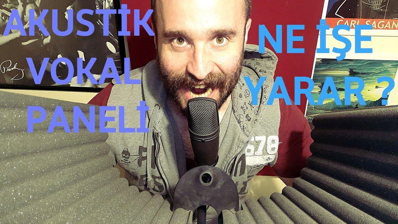 Akustik Mikrofon Paneli Ne Ise Yarar Vokal Kayit Deneyi Youtube