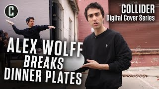 Hereditary Star Alex Wolff Smashes Plates and Blows off Steam at the Collider Studio