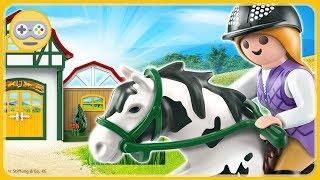 PLAYMOBIL Horse Farm - Создай свой конный двор * мультик игра про лошадей для детей