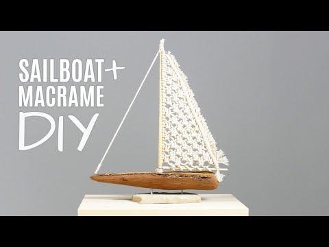 How to Make a Macrame Sailboat   Home Decor Craft idea DIY