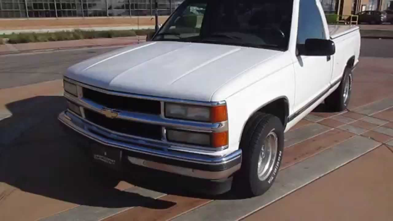 All Chevy 1995 chevy c1500 : 1995 White Chevy Truck Driving - YouTube