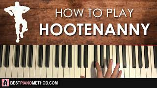 HOW TO PLAY - FORTNITE - HOOTENANNY Dance Music  (Piano Tutorial Lesson)