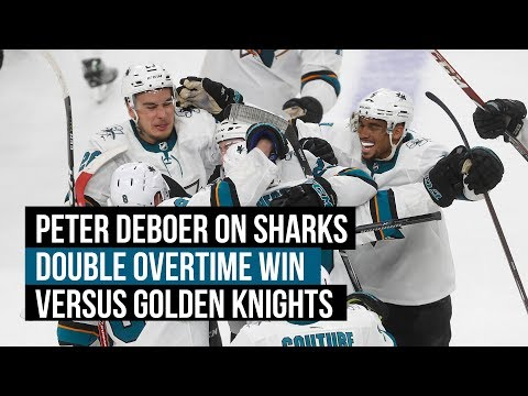 Video: Sharks' DeBoer on double-OT win vs. Golden Knights, Martin Jones' performance