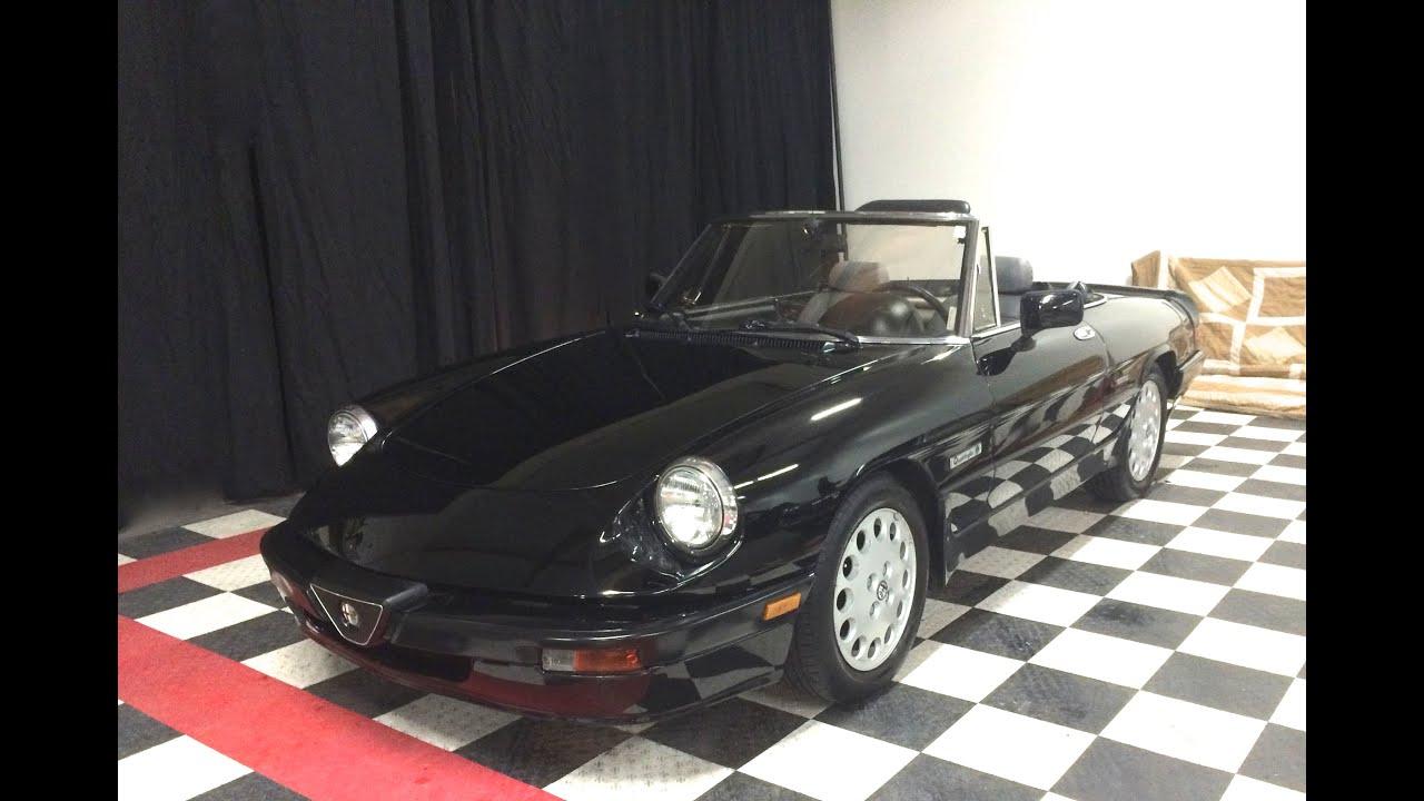 Sold 1987 Alfa Romeo Spider Quadrifoglio Youtube 1989