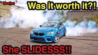 Revealing the PRICE for the CHEAPEST Salvage Auction 2018 BMW M2 in the WORLD! + Drifting + Backfire