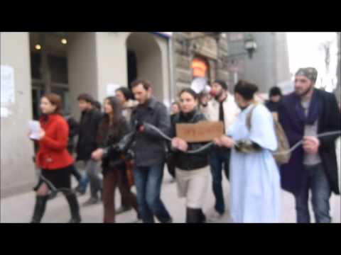 Rally against weak labor protection in Tbilisi, 2012-01-17, long version