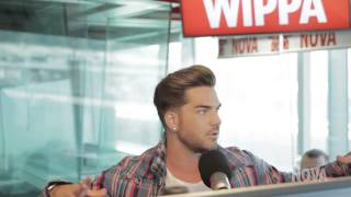 Adam Lambert interview Fitzy and Wippa , July 30 2015