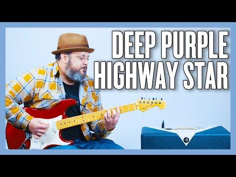Deep Purple Highway Star Guitar Lesson + Tutorial