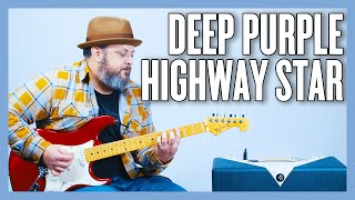 Deep Purple Highway Star Guitar Lesson + Tutorial