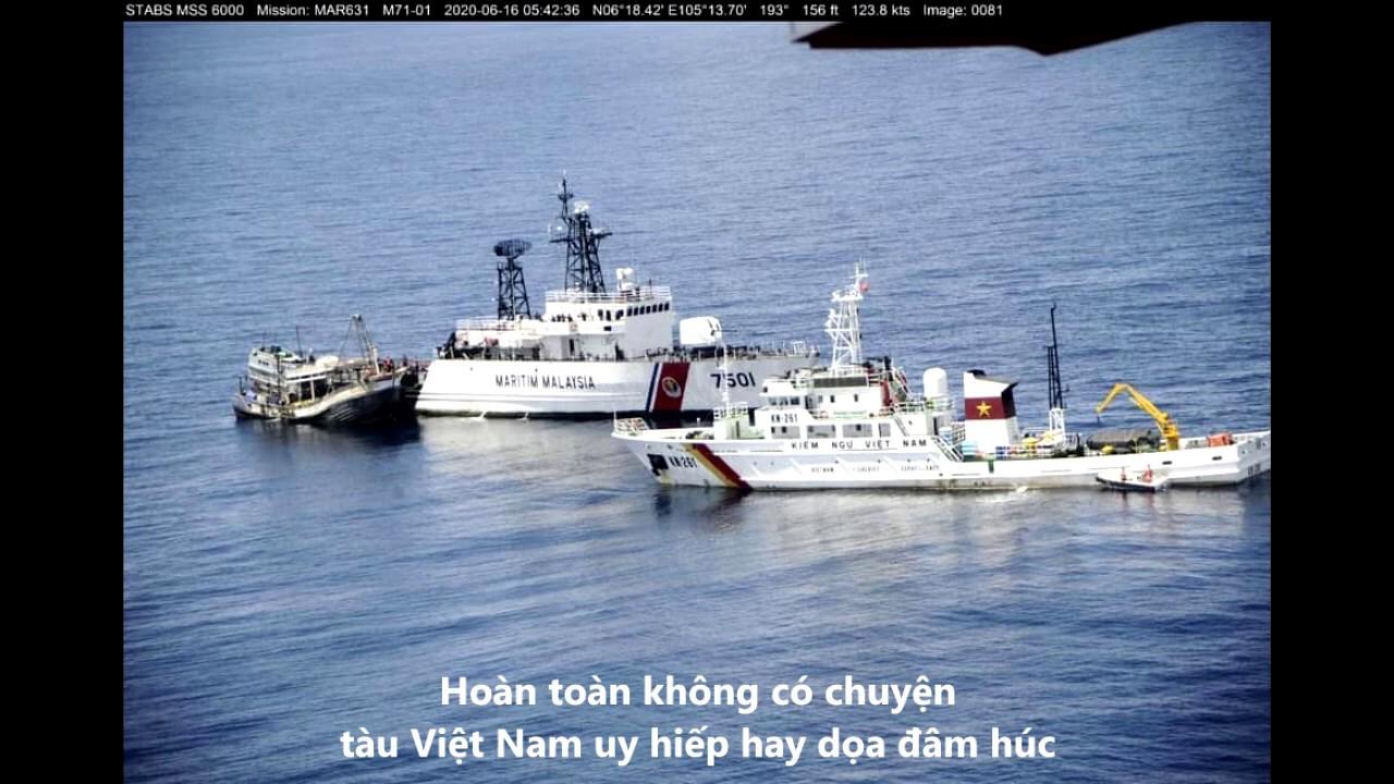 Kiểm ngư Việt Nam truy đuổi tàu tuần tra Malaysia