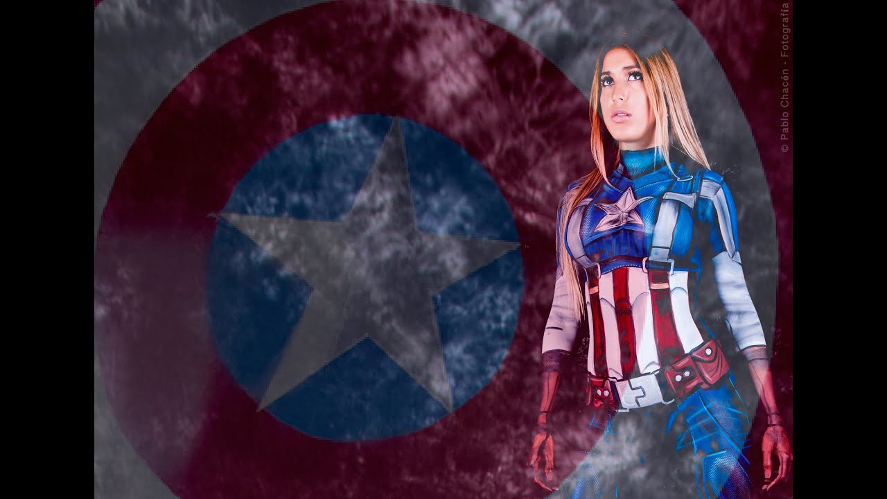 Capitan america body paint youtube for America s finest paint